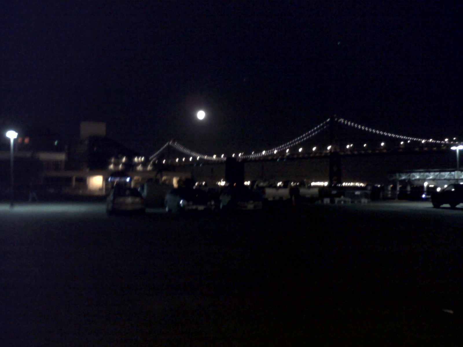 An SF bridge at night